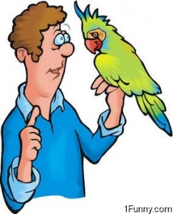 man-and-parrot