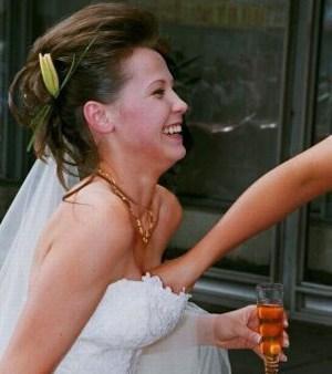 Bride boobs